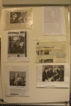 Some of the articles and photos on display