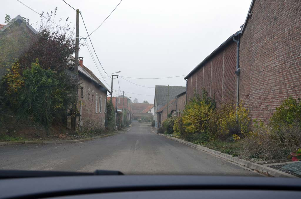 The main road through Courcelette